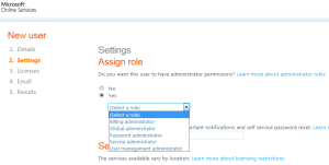 Account Roles in Office 365